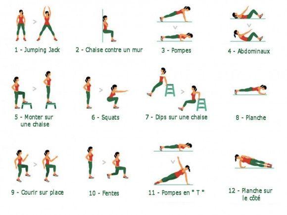 7 Minutes Workout Il Est Important De Respecter L Ordre Des Exercices Exercices De Fitness Workout Entrainement Quotidien