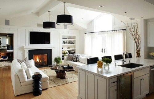 Black and white living room Living rooms Pinterest Living