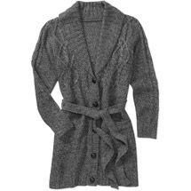 Walmart Faded Glory Womens Plus Size Belted Sweater Coat