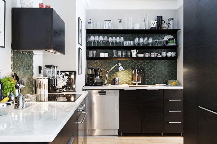 Стильный черно-белый интерьер небольшой квартиры (59 кв м Interiors - ikea küchen angebote