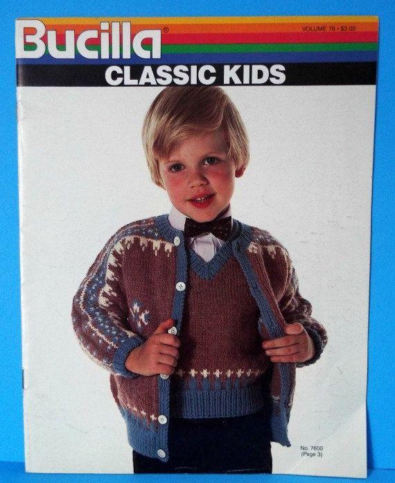 Vintage Knitting Pattern Book 1980s Bucilla Classic Kids Crochet ...