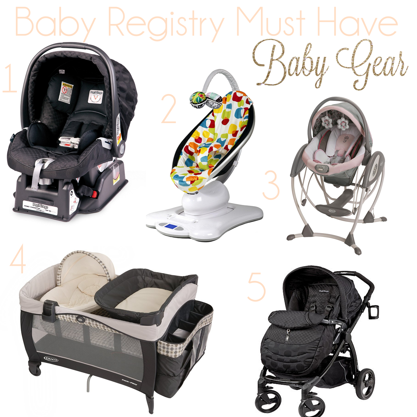 Living For His Glory On My Registry Baby Gear! Baby