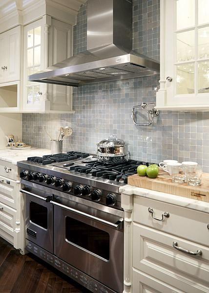 Erik goldstein photography ivory  blue contemporary kitchen design with gray glass tiles backsplash cream also