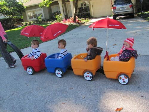 Great Idea For Multiples Wagons With Clip On Umbrellas