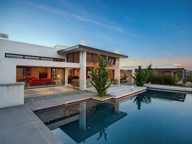 Casas modernas 2017 120 im genes de exteriores e for Color de pintura al aire libre casa moderna