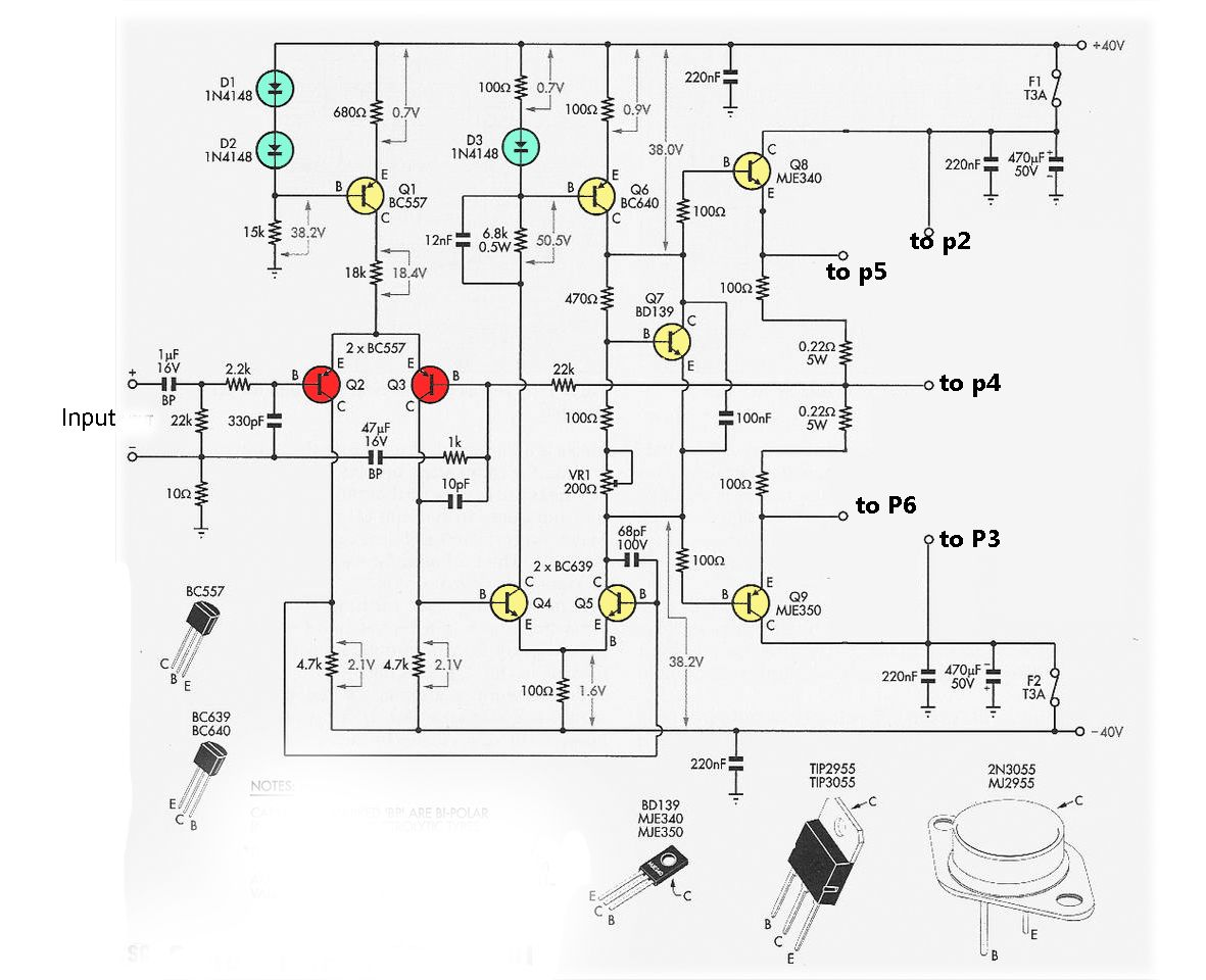 small resolution of driver power amplifier circuit for 2n3055 and mj2955