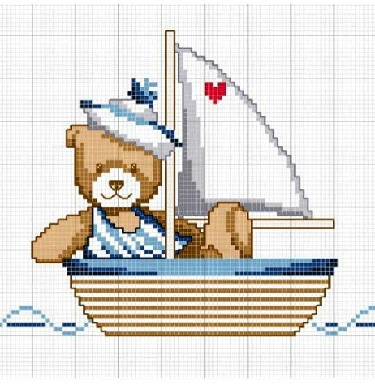 Mert'in gemisi / kanaviçe tekne