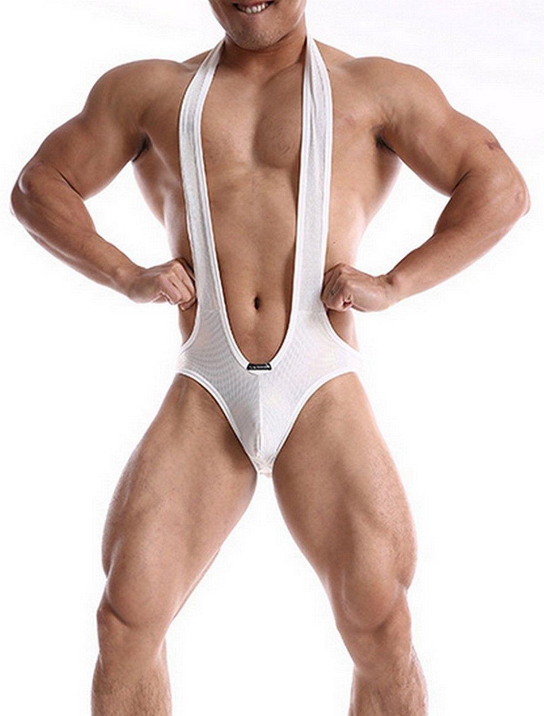 bd3d4b551 Underwear Bodysuits Wrestling Singlets - White - CU184UZEAZ4 ...