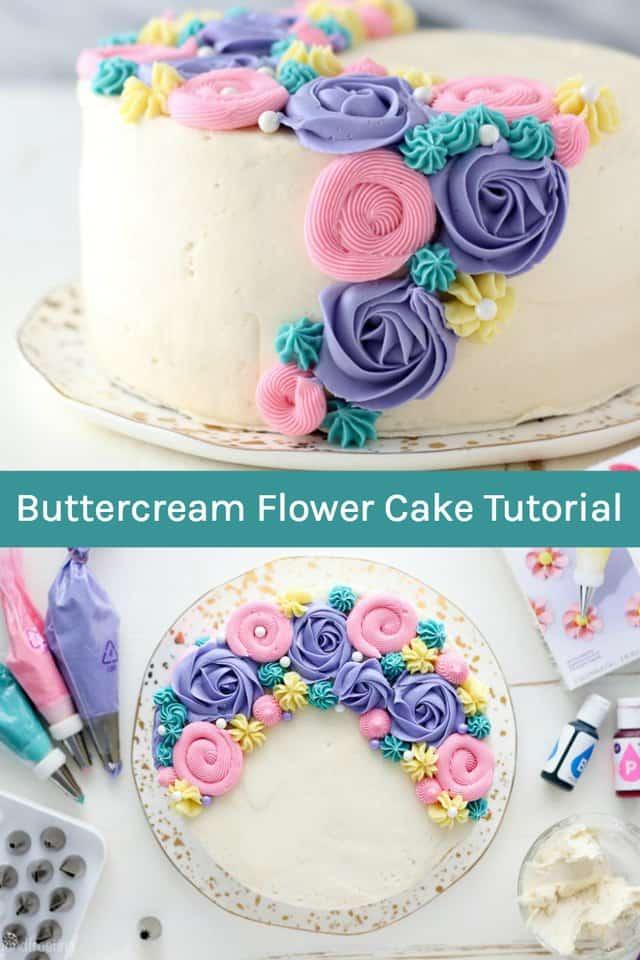 Buttercream Flower Cake Recipe Spring Cake Buttercream Flower Cake Easy Cake Decorating