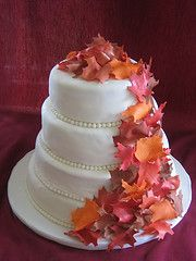 I Thought This Would Be A Nice Flower Idea For The Cake Fall Autumn Wedding