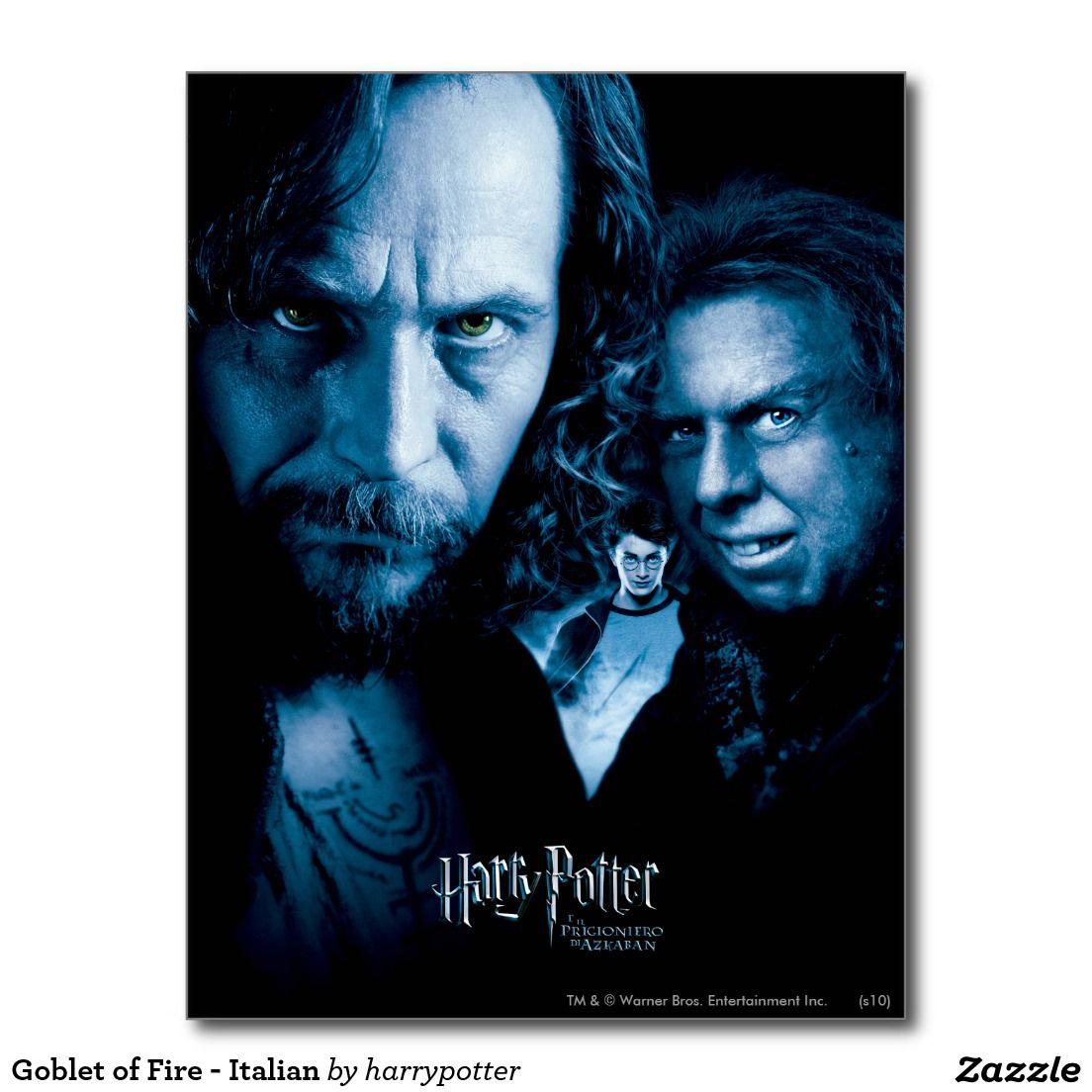 Goblet Of Fire Italian Postcard Prisoner Of Azkaban The Prisoner Of Azkaban Harry Potter Characters