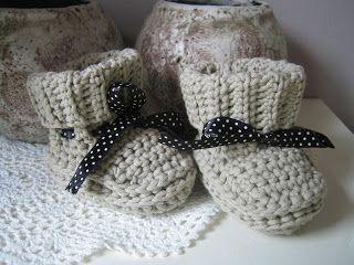 Simpele Babyslofjes Baby Schoentjes Pinterest