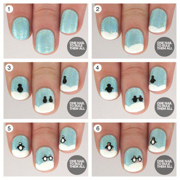 15 Fun And Easy Christmas Nail Tutorials You Need To See Easy
