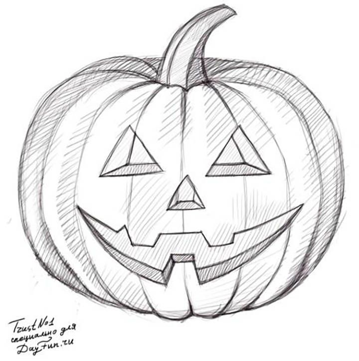 Рисовать картинки на хэллоуин поэтапно