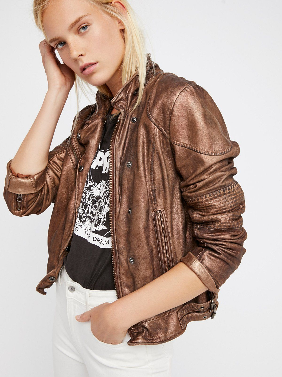 Fitted And Rugged Leather Jacket Leather Jacket Jackets Rugged Leather