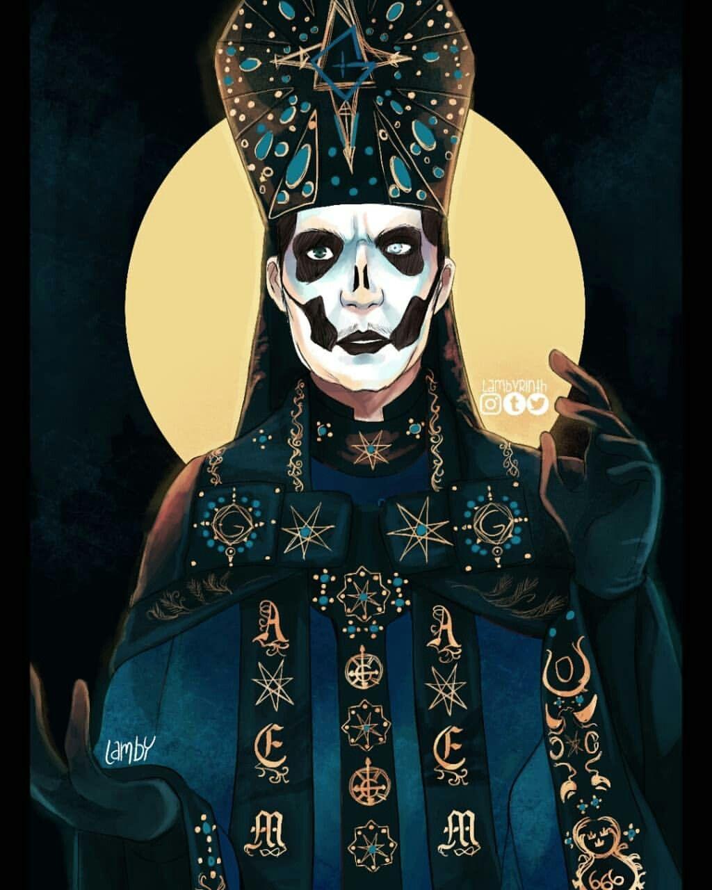 Papa Emeritus Iv By Lambyrinth Ghost Papa Ghost Papa Emeritus Ghost Bc
