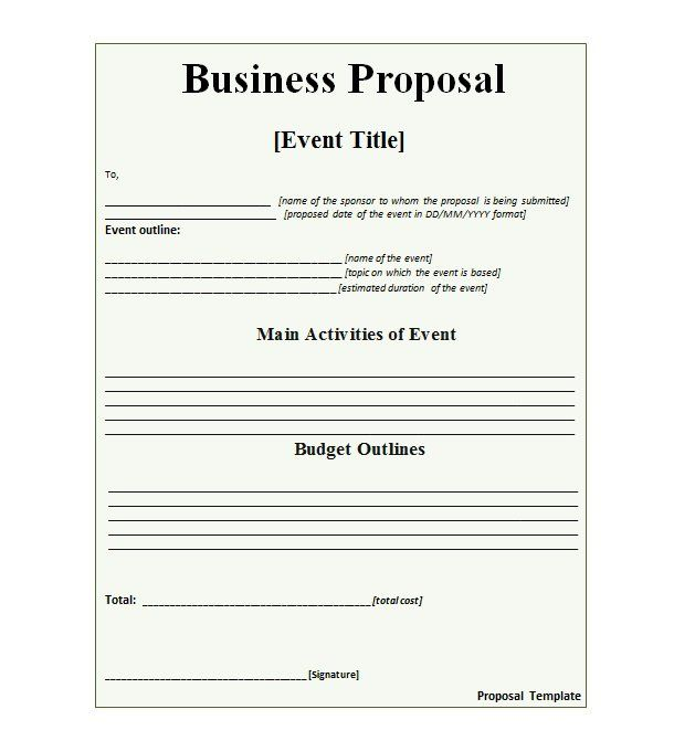 Business Proposal Template   United Crowd Funding Association
