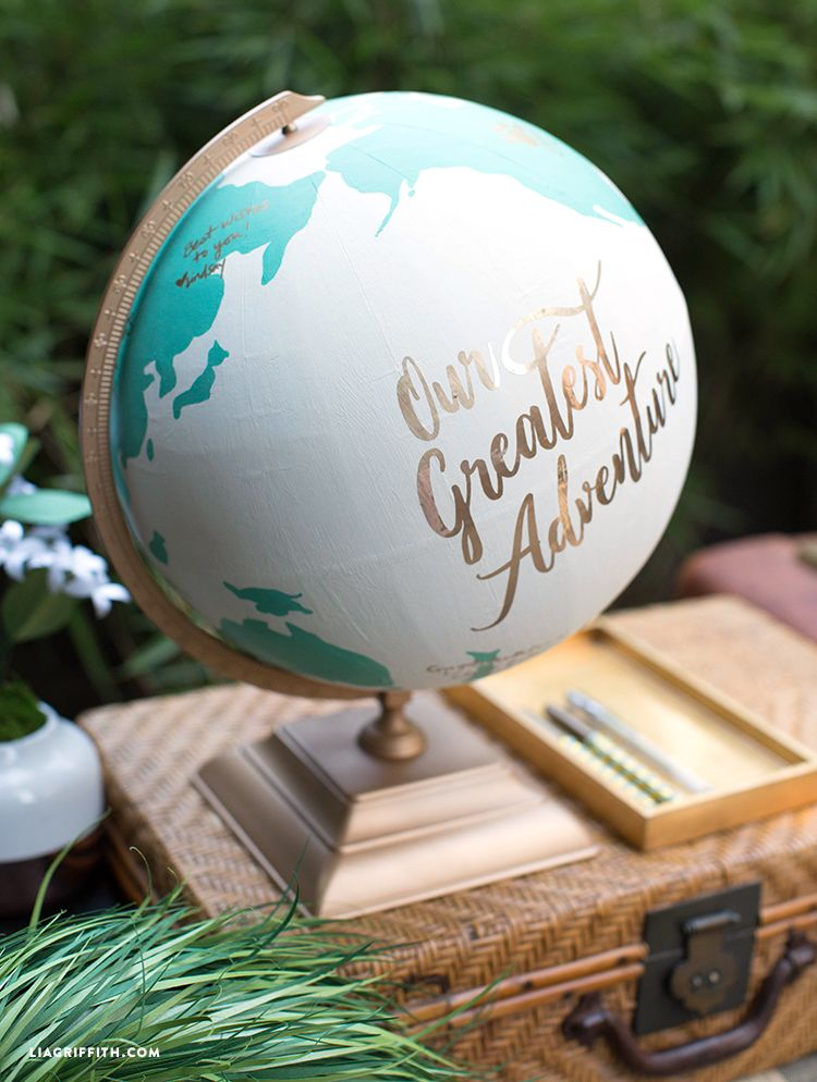 The Perfect DIY Globe Guest Book for Your Travel Wedding ...