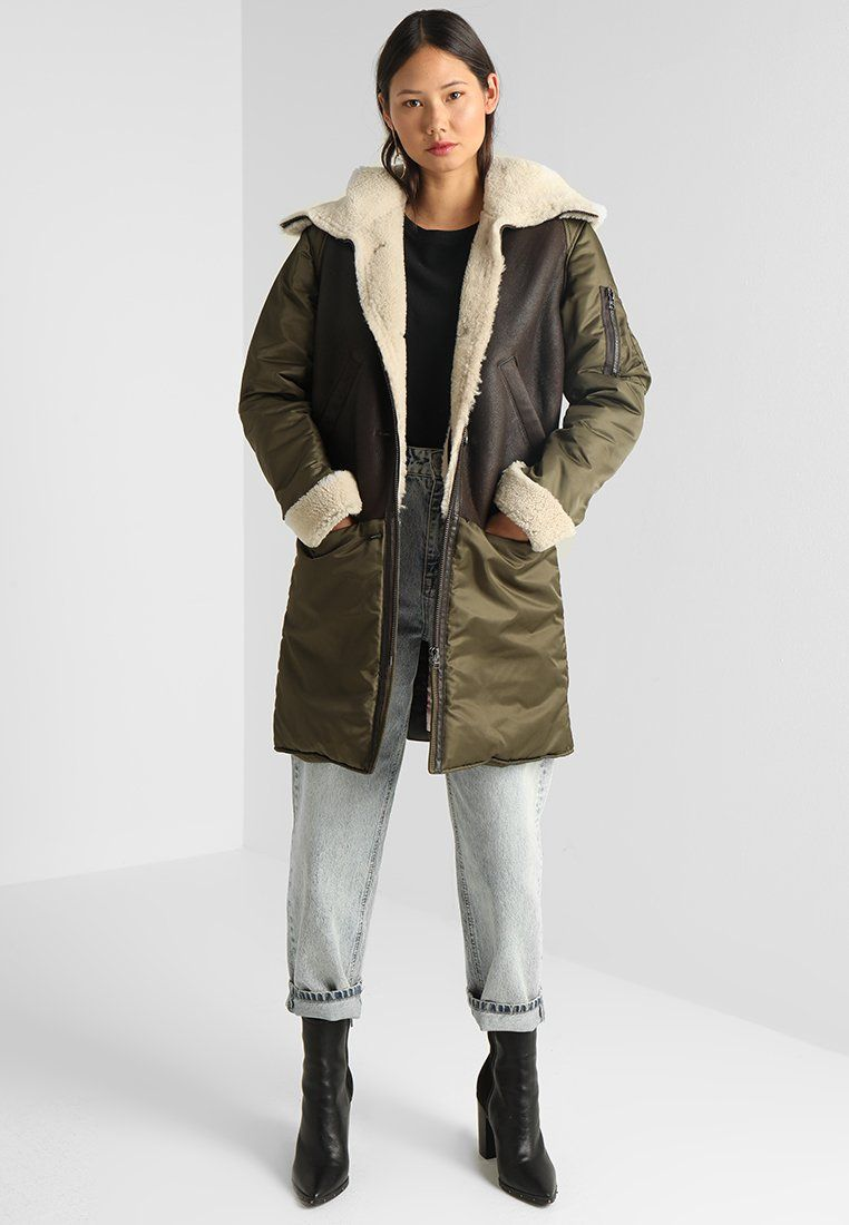 Goosecraft Axelle Winter Coat Green Brown Off White Zalando De Winter Coat Green Coat Winter Jackets [ 1100 x 762 Pixel ]