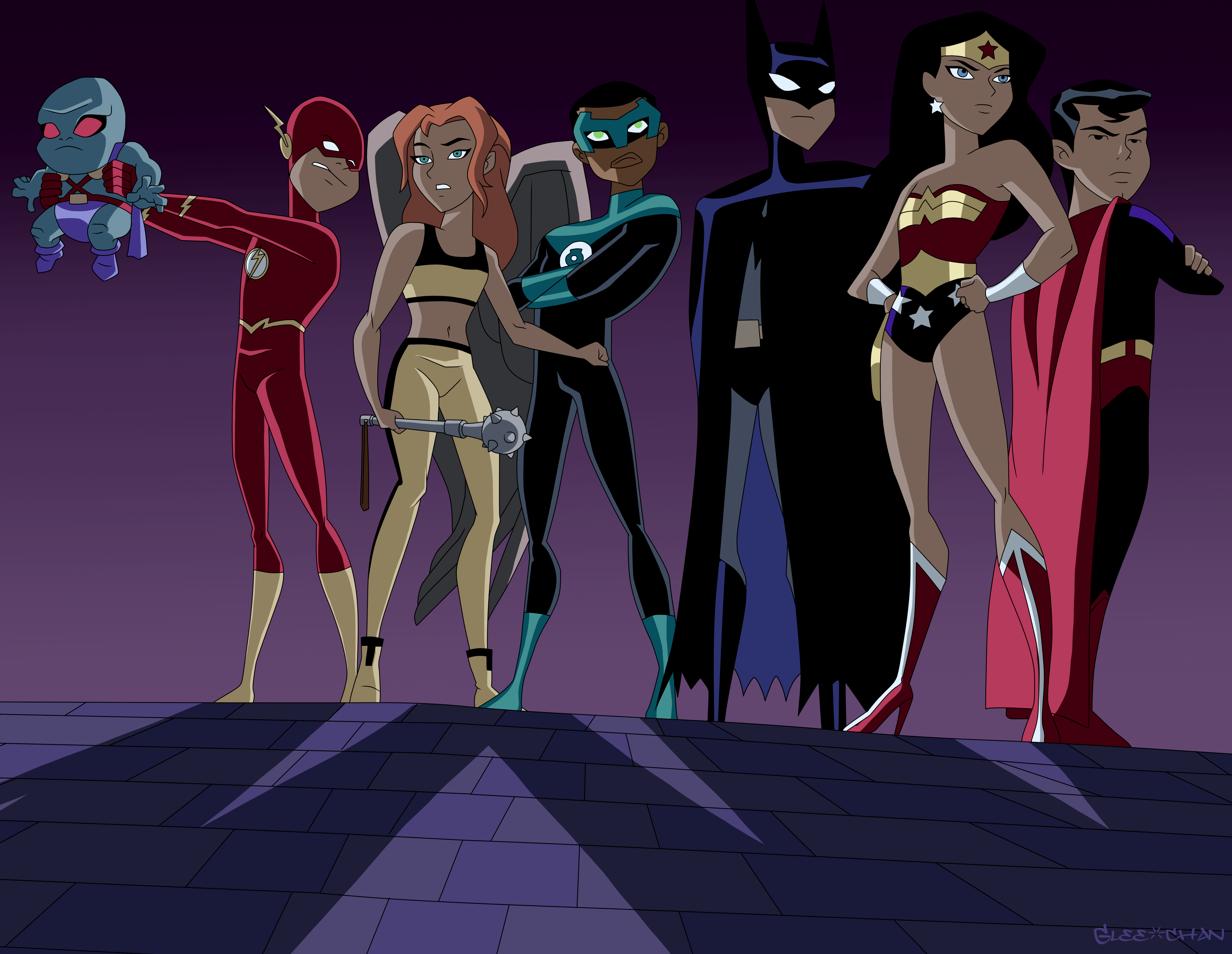 Junior League Unlimited By Glee Chan Justice League Characters Justice League Animated Justice League