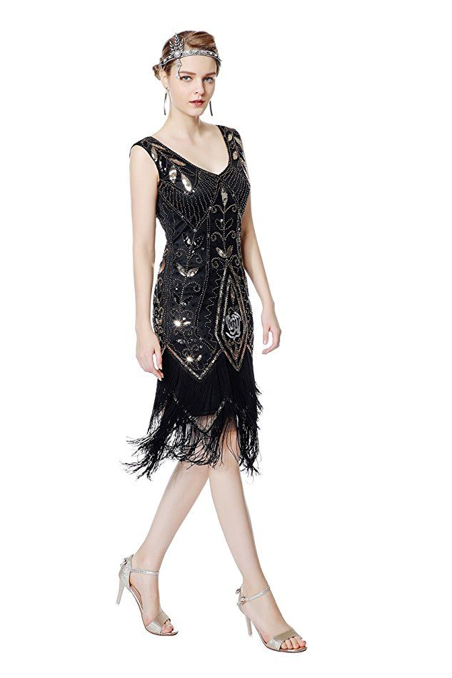 Shoppen Sie Metme Damen der 1920er Jahre Vintage Fringe Perlen ...