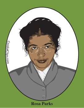 Rosa Parks Color Clip Art Or Mini Poster Pictures
