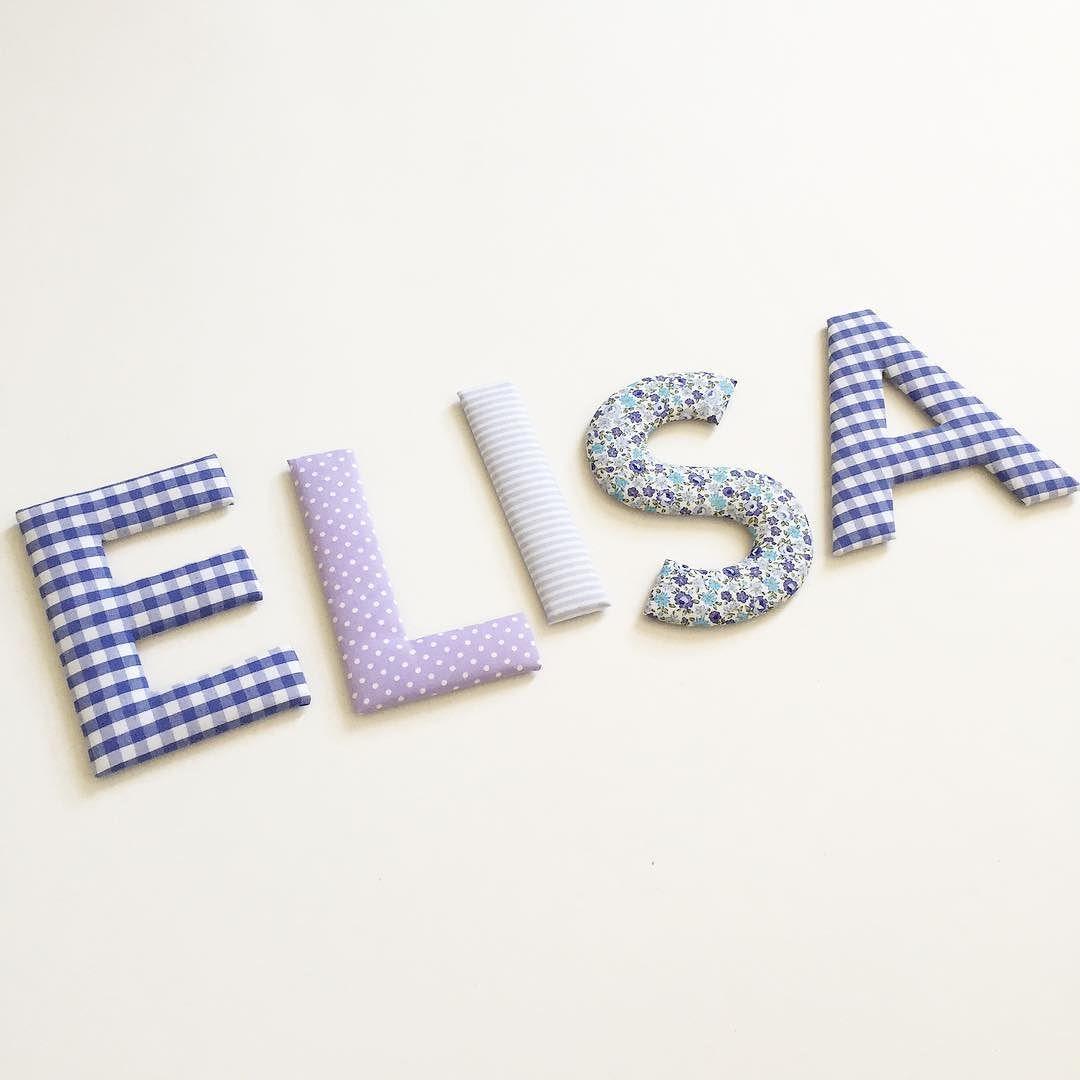 Kundenwunsch Stoffbuchstaben flieder lila und mit