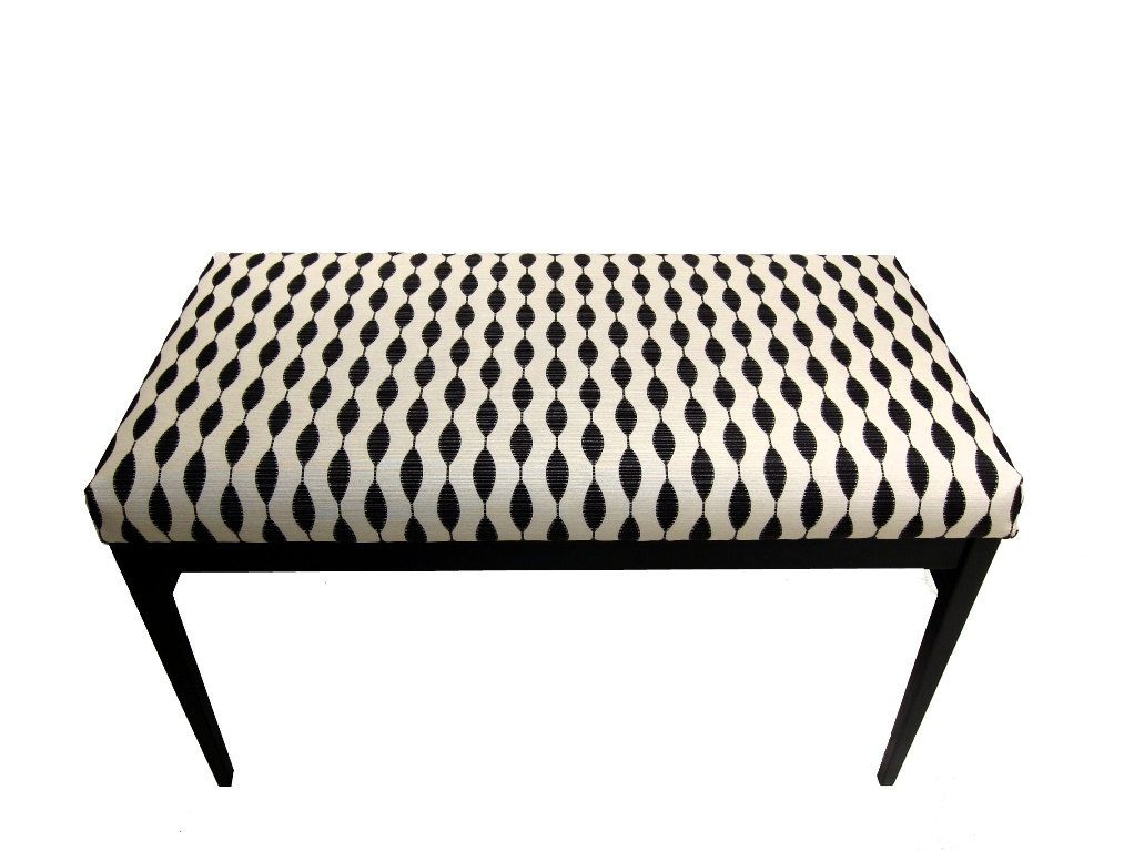 Upholstered Bench Modern Black And White Indoor Bench