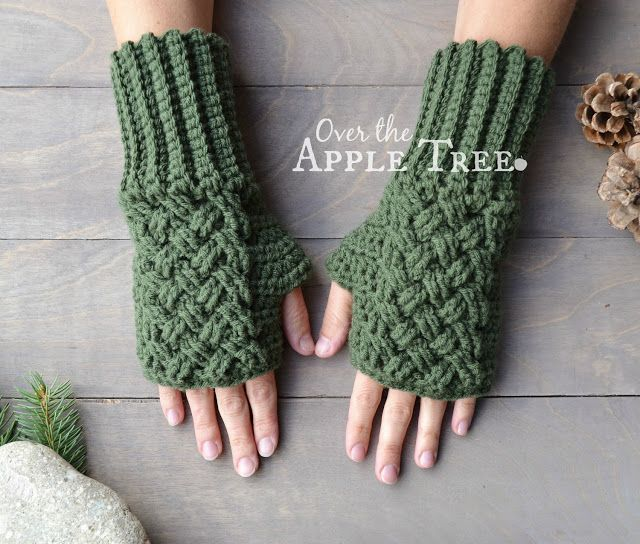 Celtic Weave Fingerless Gloves Pattern By Over The Apple Tree