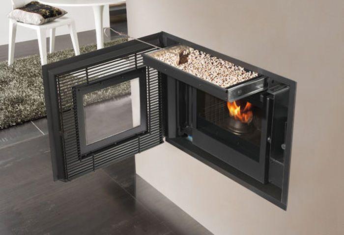 Pellet Fireplace Insert 1 Sided Inpellet Edilkamin Pellet