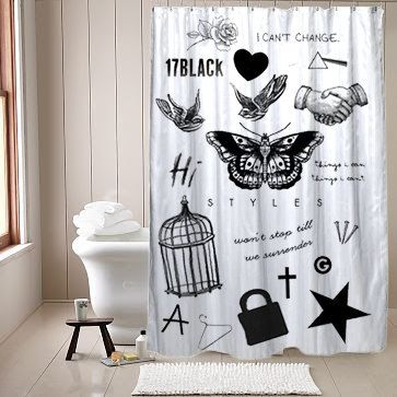 curtains printed shower curtain