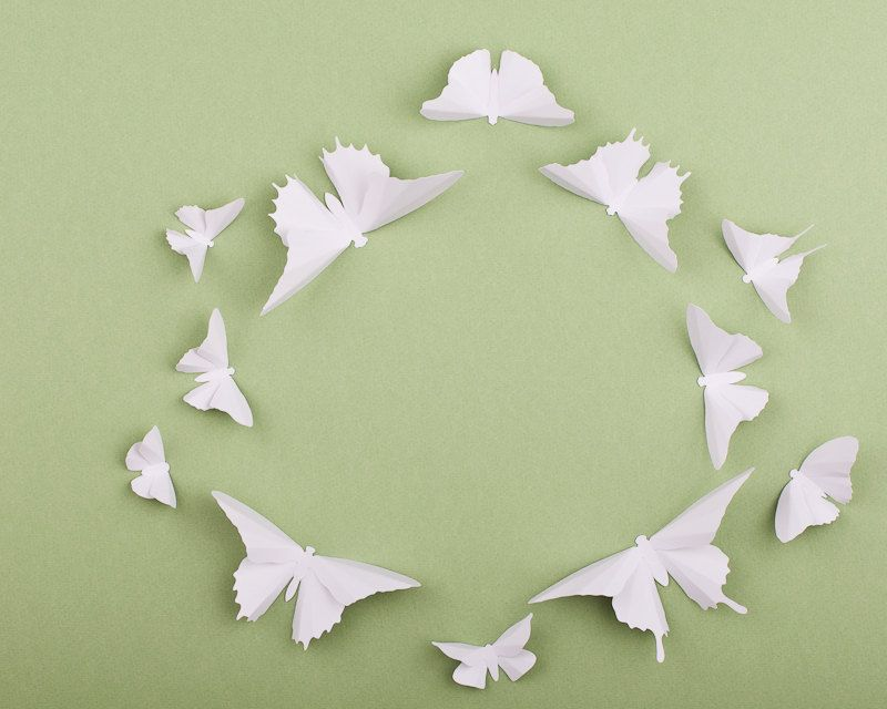 Paper Butterflies: 3D Butterfly Wall Art for Nursery, Baby Room ...