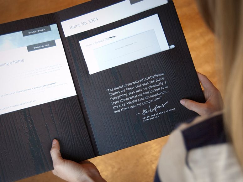 Upselling Upscale Bellevue Towers Toolkit (deboss, foil stamp - resume presentation folder