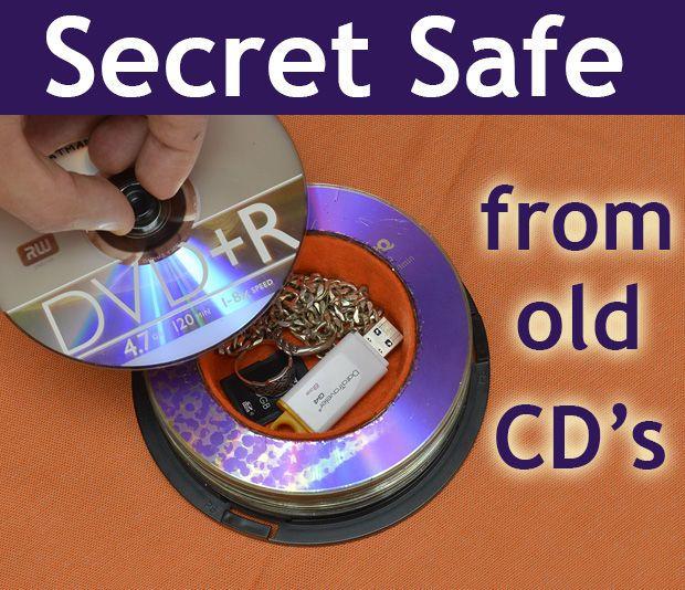 Secret Safe From Old CD\'s | Cofre, CDs reciclados y Tecno