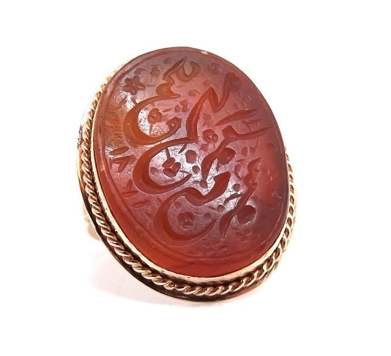 Fine Pins & Brooches Vintage & Antique Jewelry Vtg 800 Silver Real Carnelian Gemstone Arabic Pin Brooch