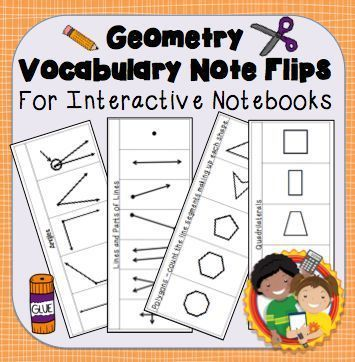 Interactive Notebook Geometry Vocabulary Flips And Quizzes Quizzes