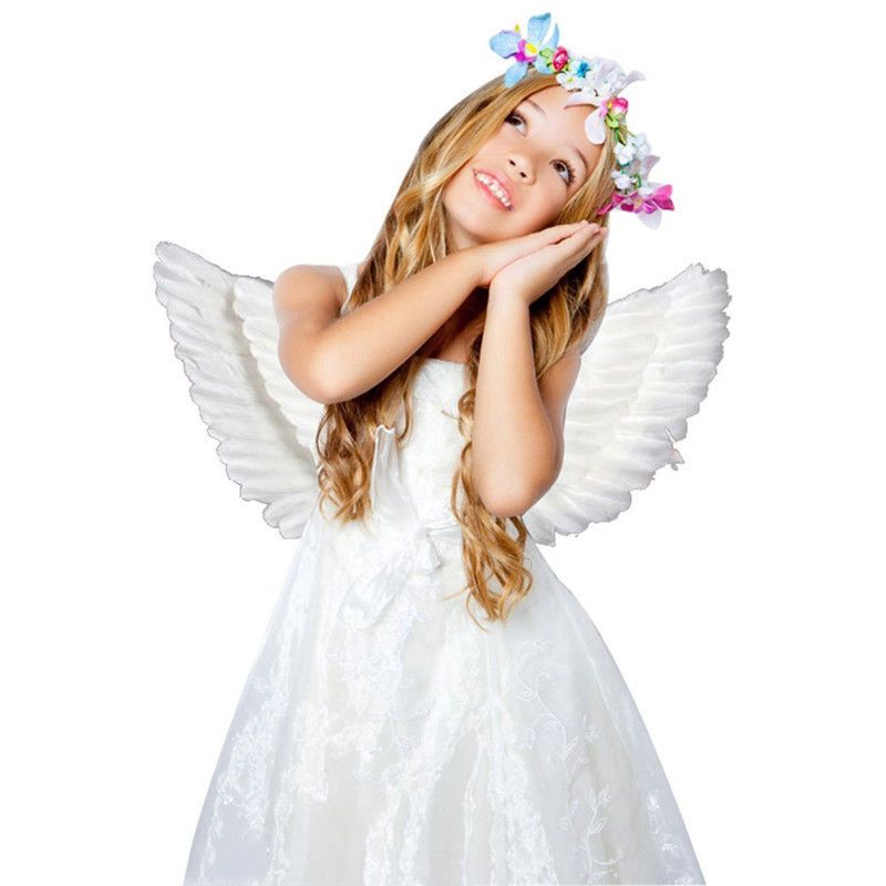 US 3PCS Adult Kids Feather Fairy Angel Wings Wand Halo Cosplay Party Fancy Dress