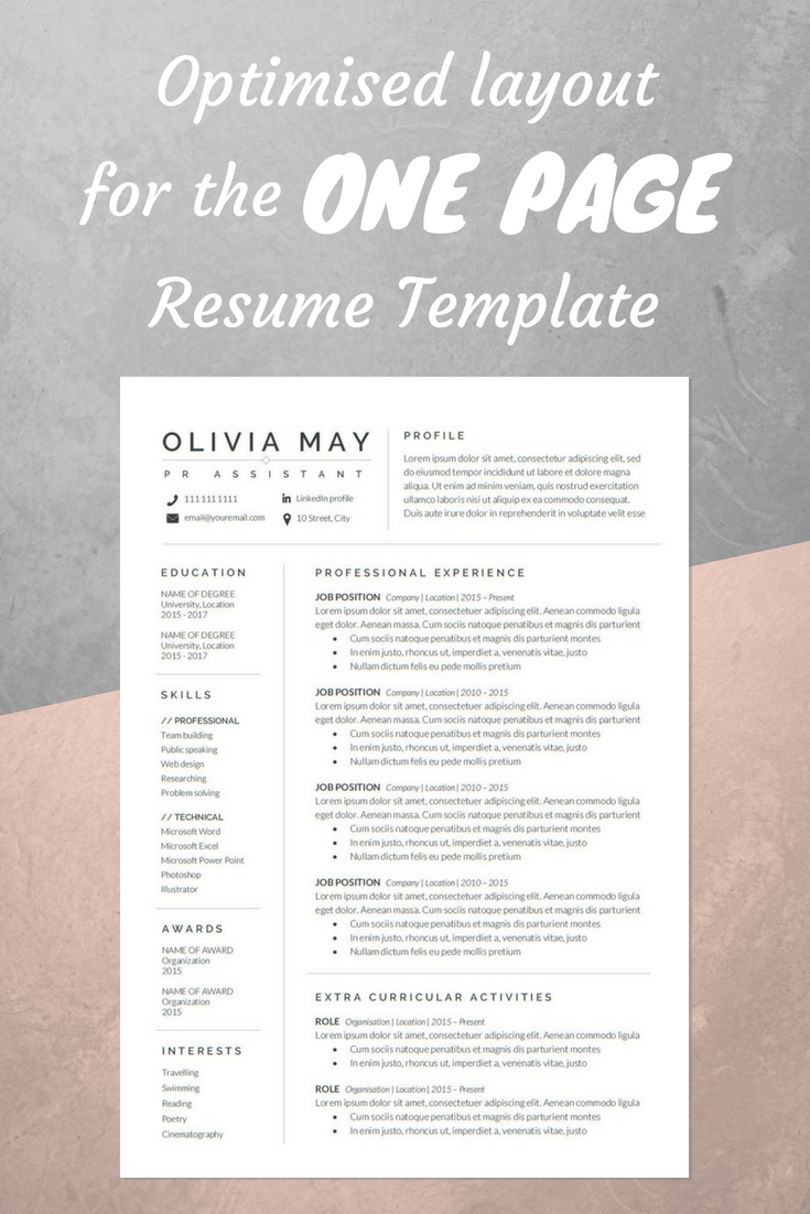 resume template professional resume cv template modern resume