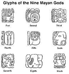 9 Mayan God Glyphs Mayan Symbols Mayan Glyphs Mayan Art