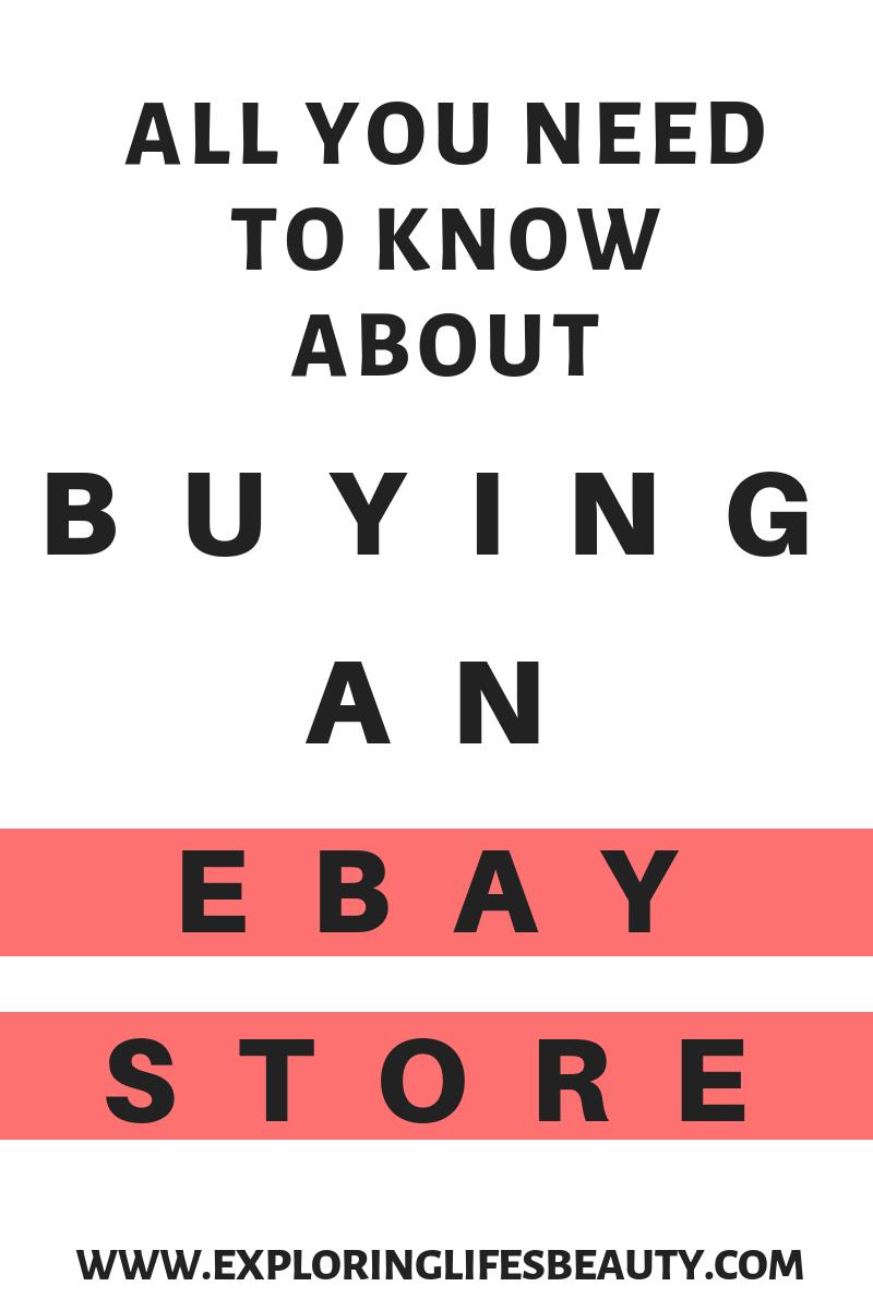 Should You Buy An Ebay Store Ebay Selling Tips Ebay Hacks Ebay Store