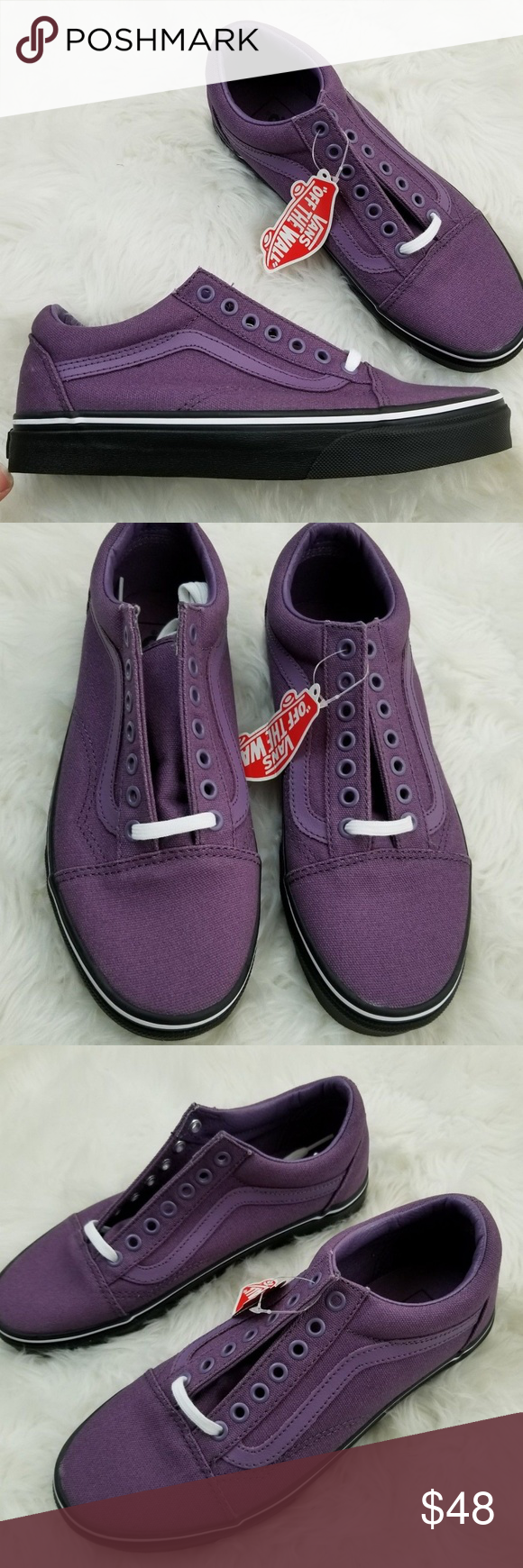 e48ed8f0738f VANS Old Skool Black Mountain Grape Shoes W 9 Brand new in box. Vans Old  Skool Black Outsole Shoes in Mountain Grape and Black. Men s Size 7.5. Women s  Size ...