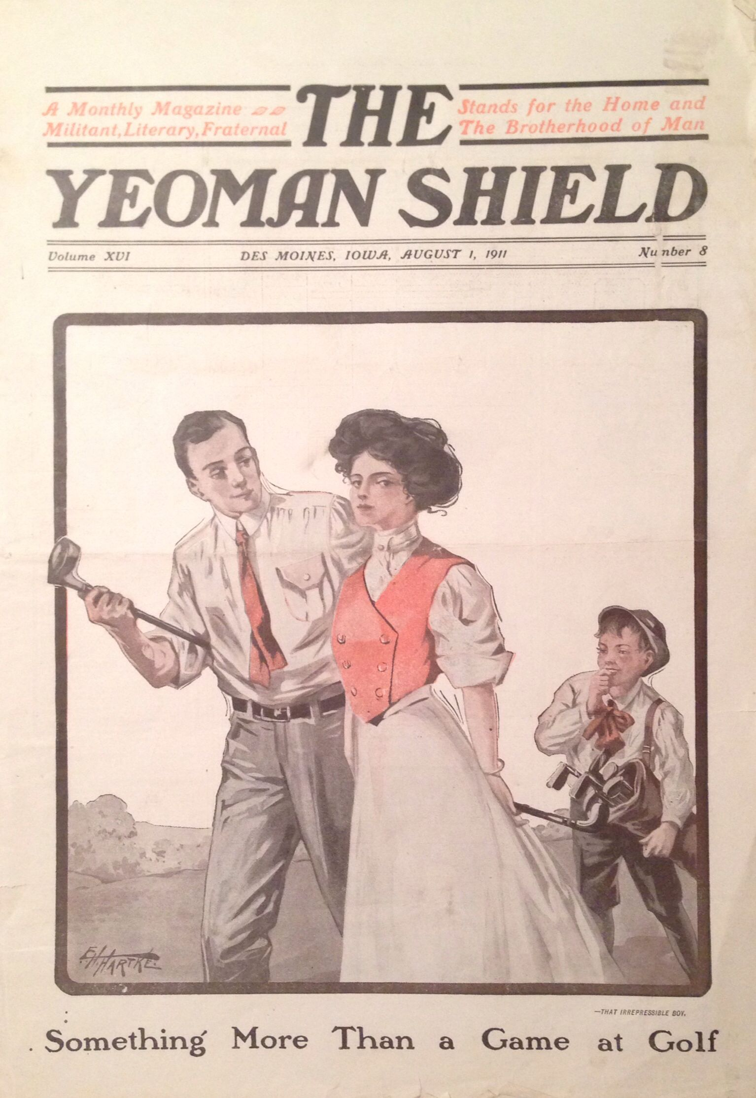The Yeoman Shield Magazine 1 Aug 1911 Golfer Cover
