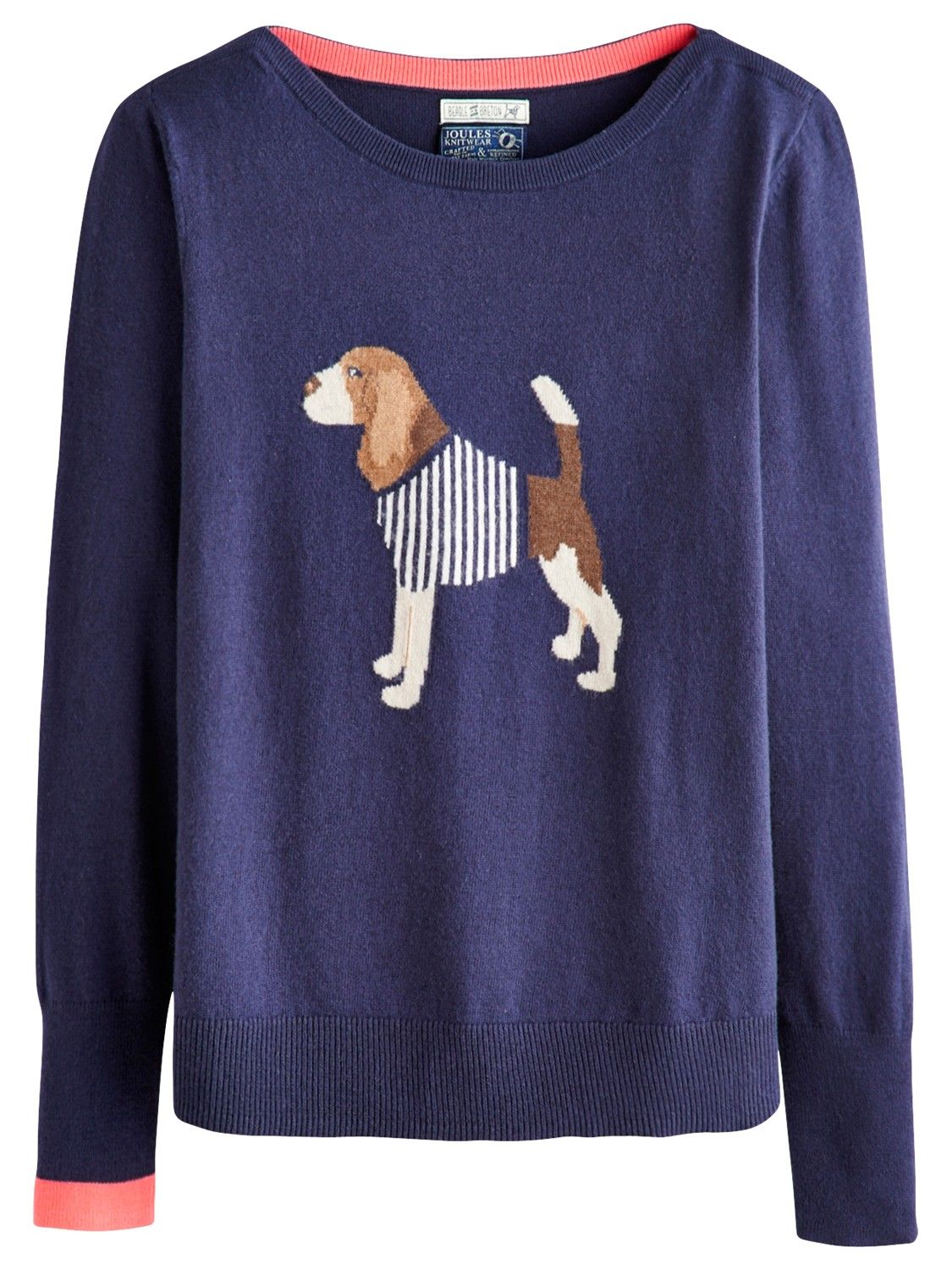 028447af1b Joules Marsha Beagle Jumper, French Navy | Style | Sweaters for ...
