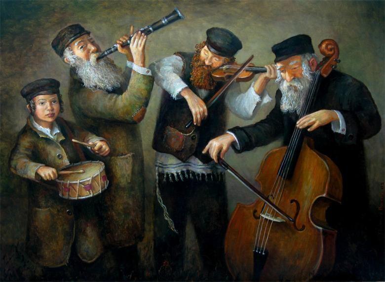 Klezmers Boris Dubrov Jewish Art Jewish Artwork Judaica Art