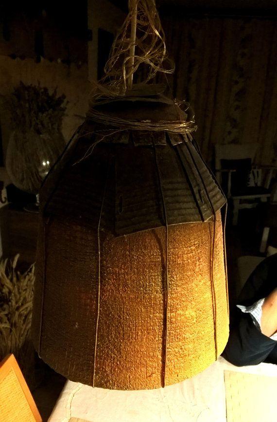 Lámpara de techo, materiales reciclados, lámpara original ...