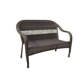 Garden Treasures Severson Textured Black Steel Woven Seat