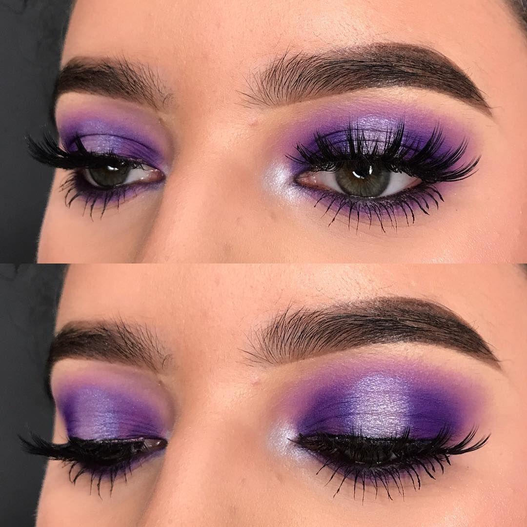 Purple Spotlight Smokey Eye Kissartistry Colorful Makeup No