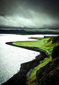 The stormy shore (The North Shore, Iceland).
