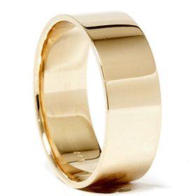 8mm Solid 14k Yellow Gold Karat Mens Wide Comfort Fit Wedding Ring Plain Band Mens Gold Wedding Band Wedding Ring Plain Band Mens Wedding Bands