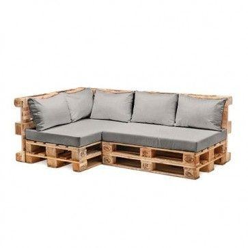 Photo of Ensemble de coussins de dossier en fibres creuses résistantes à l'eau, gris, #Cushion #Furniture #Gre …